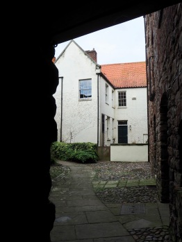 Look back as you plunge into the darkness and this is the courtyard view