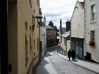 West Street is only gently curved but it's enough to lead your gaze round to the right, towards the river