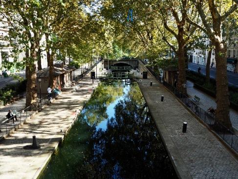 Autumn shadows by Canal St Martin