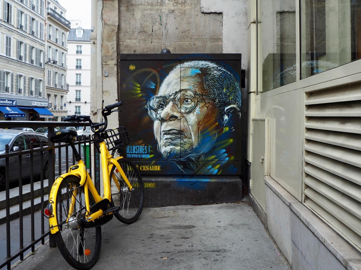 C215 street portrait of Aimé Cesaire