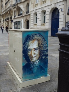 François-Marie Arouet, better known as Voltaire (1694-1778) historian, novelist, playwright, poet and satirist - a passionate advocate of civil liberties including freedom of religion and freedom of speech