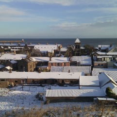 Snowy Spittal roofs in January