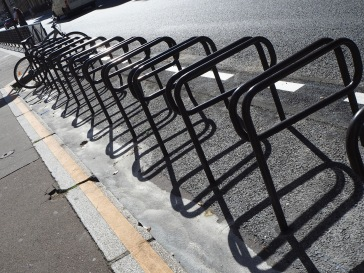 Bike rack shadows - September 2018