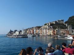 Arriving in Porto Venere harbour