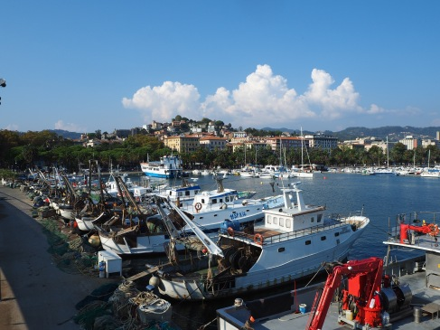 La Spezia fishing boats look large after the traditional rowing boats of Cinque Terre..