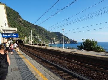 The platform at Corniglia station...