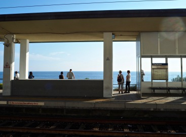 the least visited of the five Cinque Terre stations due to the flight of 382 brick steps up to the village above