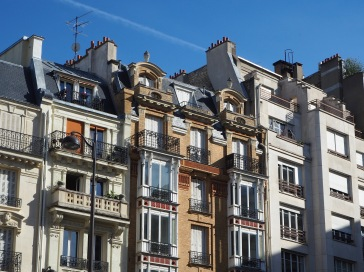 Layered balconies in St Germain