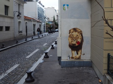 A lion with a rose - what's your story?
