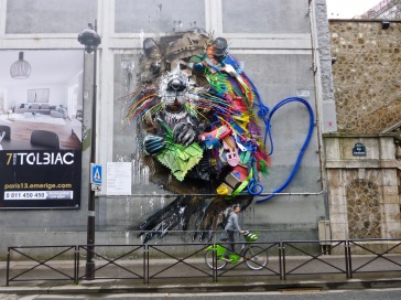 A giant beaver made from throw away plastic is definitely an animal with a message - it's the work of Portuguese artist Artur Bordalo