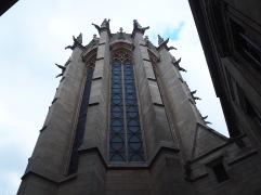 From outside the buttresses between the windows look much more solid