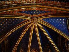 Gold ribs lead your eye upwards to starry ceilings - La Sainte-Chapelle, Paris - November 2018