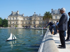 A May Sunday in the Jardin du Luxembourg - the day for model boat enthusiasts to sail their own boats