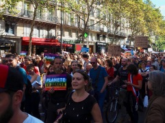 A year in Paris would be incomplete without a protest march - this is September's peaceful climate action