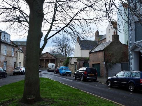 A backward glance down Palace Street before following Drivers Lane round to Bridge Street, where I left my bike