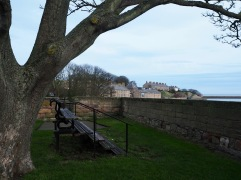 Through another gateway and up into the fort - there's a good view across the estuary but you need a high seat to see over the wall