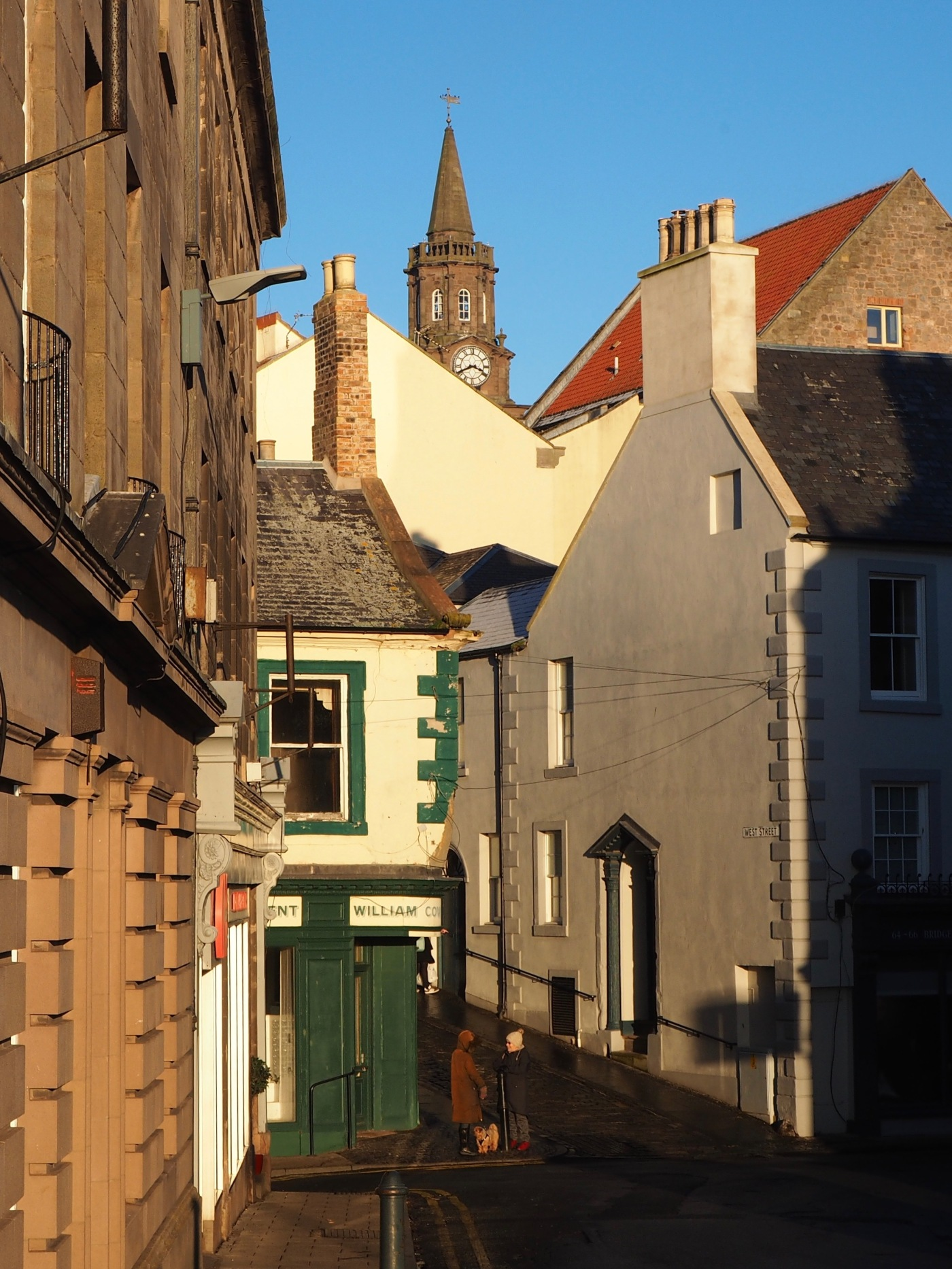 Berwick upon Tweed corner of Bridge Street and West Street