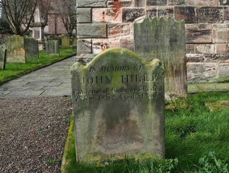 To the memory of John Hill Esq. Collector of Customs who died in 1834 at the age of 51