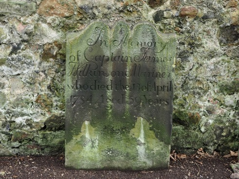 Captain James Wilkinson, mariner, died 13th April 1784