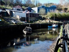 Rising or falling tide? - the barrage was open but the lower reaches of the Ouseburn looked as if they could do with some more water