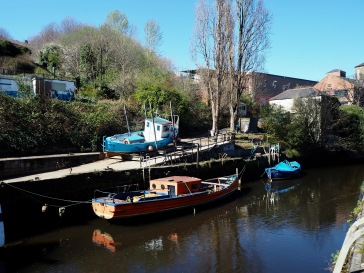 Away from the smart new development along the Tyne quayside, the path along the Ouseburn offers a change of pace...