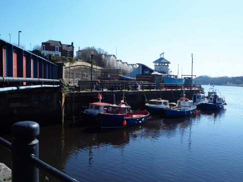 This is the point where the Ouseburn reaches the Tyne.