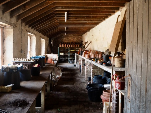 illustration of potting shed at Floors Castle garden