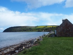 Looking along the coast to the Suters of Cromarty