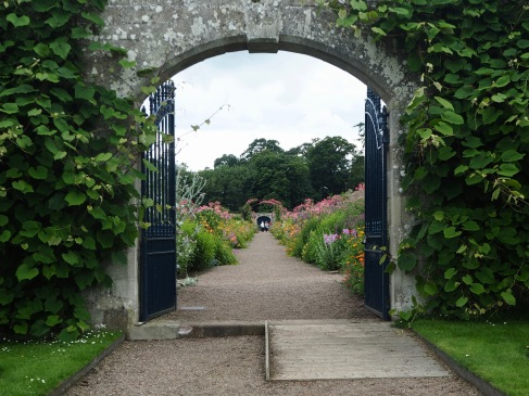Entrance gates to the walled garden...