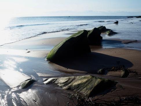 spittal beach as tide falls