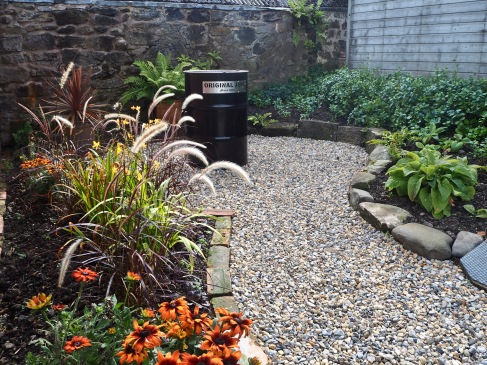 The 'barbecue garden' was finished at high speed ready for a late summer party