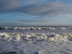 Wind-whipped surf - December 2019