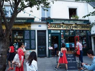 Visitors to a famous Paris bookshop - September 2018