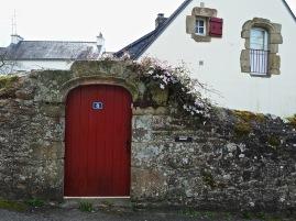 Garden door and window shutter in Auray, Brittany - May 2016