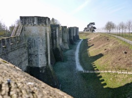 A path suggests hidden possibilities beyond the imposing walls of Provins - February 2018