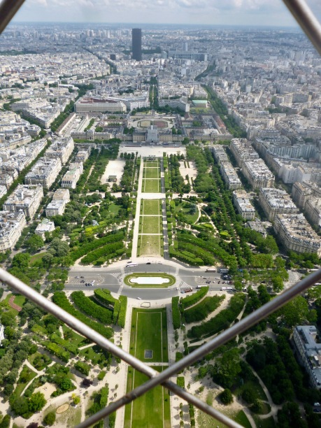 The lines and vistas of Haussmann's Paris seen from the Eiffel Tower - June 2018