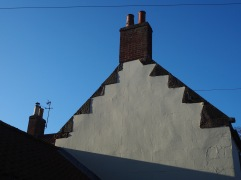 Stepped gables are a common feature of older houses in the borders