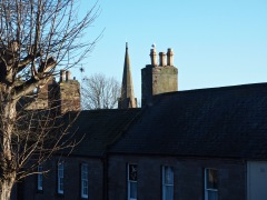 A walk round the Elizabethan ramparts gives a chimney level view of neighbouring houses...