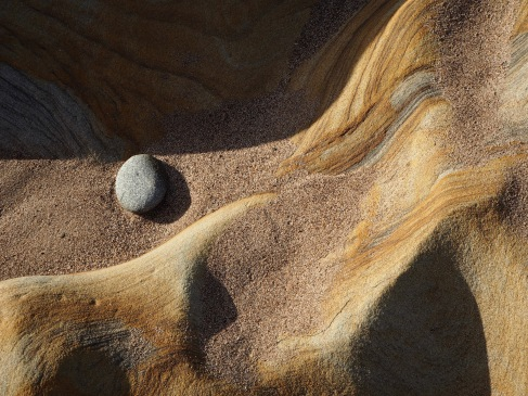 Sandstone and pebble - Spittal beach - February 2020