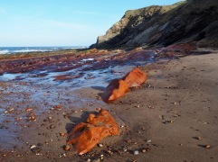 Yes, the rocks really are this colour - dyed by minerals in the water draining from and old iron ore mine