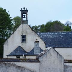 A chapel bell tower with a ball on top - Cromarty - May 2019