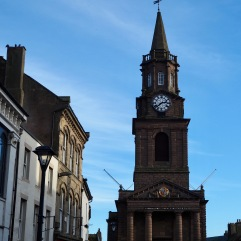 The town hall weather vane is nearly out of the picture - Berwick - November 2018