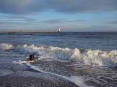 Sunlit surf - mid morning in December