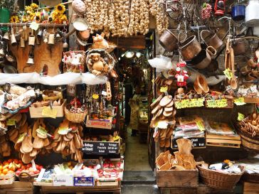 A general store in Florence with a bewildering variety of useful (and useless) objects on display - April 2018