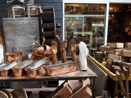 A specialised selection of bygones at the St Ouen Marché des Puces - July 2018